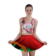 Fractal Construction Mini Skirt