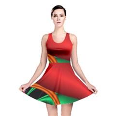 Fractal Construction Reversible Skater Dress