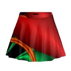 Fractal Construction Mini Flare Skirt