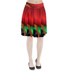 Fractal Construction Pleated Skirt