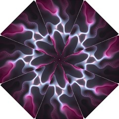 Colorful Fractal Background Hook Handle Umbrellas (small)
