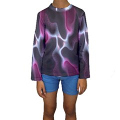 Colorful Fractal Background Kids  Long Sleeve Swimwear