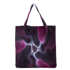 Colorful Fractal Background Grocery Tote Bag