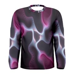 Colorful Fractal Background Men s Long Sleeve Tee