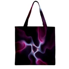 Colorful Fractal Background Zipper Grocery Tote Bag
