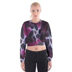 Colorful Fractal Background Women s Cropped Sweatshirt