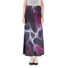 Colorful Fractal Background Maxi Skirts