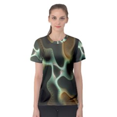 Colorful Fractal Background Women s Sport Mesh Tee