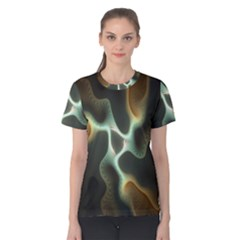 Colorful Fractal Background Women s Cotton Tee