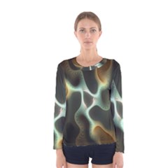 Colorful Fractal Background Women s Long Sleeve Tee
