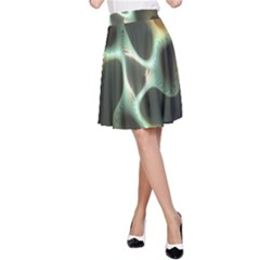 Colorful Fractal Background A-Line Skirt
