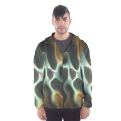 Colorful Fractal Background Hooded Wind Breaker (Men)