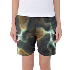 Colorful Fractal Background Women s Basketball Shorts