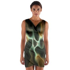 Colorful Fractal Background Wrap Front Bodycon Dress