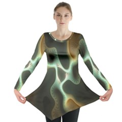 Colorful Fractal Background Long Sleeve Tunic