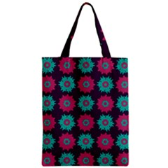 Flower Floral Rose Sunflower Purple Blue Classic Tote Bag