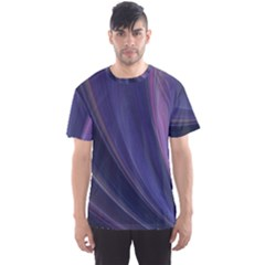 Purple Fractal Men s Sport Mesh Tee