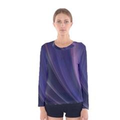 Purple Fractal Women s Long Sleeve Tee