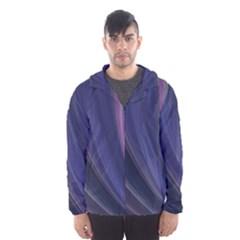 Purple Fractal Hooded Wind Breaker (Men)