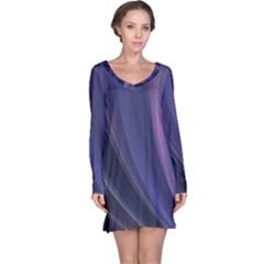 Purple Fractal Long Sleeve Nightdress