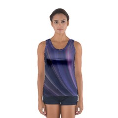 Purple Fractal Women s Sport Tank Top