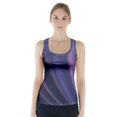 Purple Fractal Racer Back Sports Top