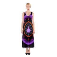 Hypocloid Sleeveless Maxi Dress