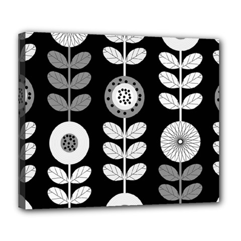 Floral Pattern Seamless Background Deluxe Canvas 24  X 20
