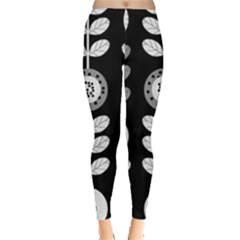 Floral Pattern Seamless Background Leggings