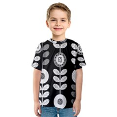 Floral Pattern Seamless Background Kids  Sport Mesh Tee