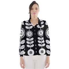 Floral Pattern Seamless Background Wind Breaker (women)