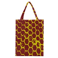 Network Grid Pattern Background Structure Yellow Classic Tote Bag