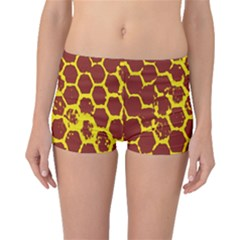 Network Grid Pattern Background Structure Yellow Boyleg Bikini Bottoms