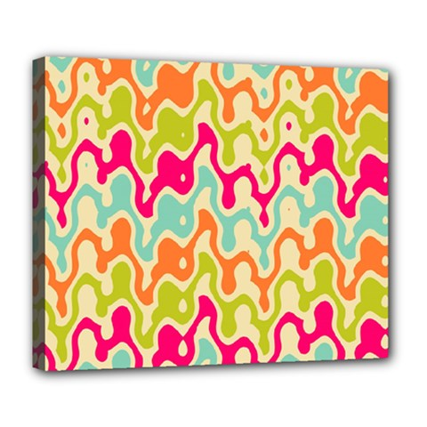 Abstract Pattern Colorful Wallpaper Deluxe Canvas 24  x 20