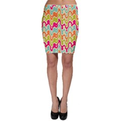 Abstract Pattern Colorful Wallpaper Bodycon Skirt