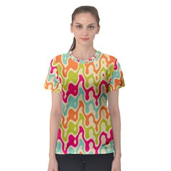 Abstract Pattern Colorful Wallpaper Women s Sport Mesh Tee