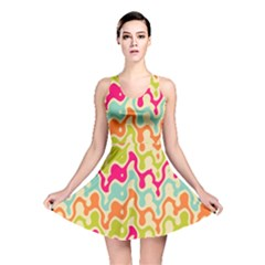 Abstract Pattern Colorful Wallpaper Reversible Skater Dress