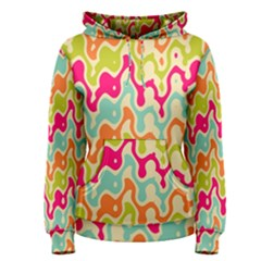 Abstract Pattern Colorful Wallpaper Women s Pullover Hoodie