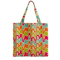 Abstract Pattern Colorful Wallpaper Zipper Grocery Tote Bag