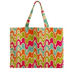Abstract Pattern Colorful Wallpaper Zipper Mini Tote Bag