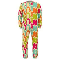 Abstract Pattern Colorful Wallpaper OnePiece Jumpsuit (Men)