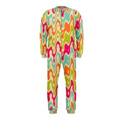Abstract Pattern Colorful Wallpaper OnePiece Jumpsuit (Kids)
