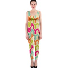 Abstract Pattern Colorful Wallpaper OnePiece Catsuit