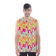 Abstract Pattern Colorful Wallpaper Men s Basketball Tank Top