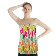 Abstract Pattern Colorful Wallpaper Strapless Top