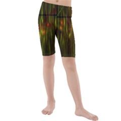 Fractal Rain Kids  Mid Length Swim Shorts