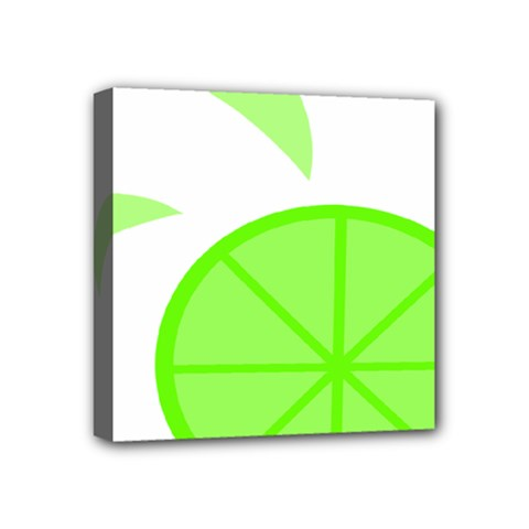 Fruit Lime Green Mini Canvas 4  x 4
