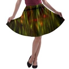 Fractal Rain A Line Skater Skirt