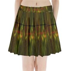 Fractal Rain Pleated Mini Skirt