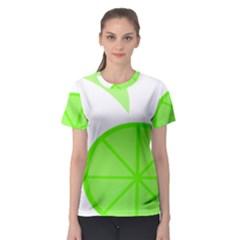 Fruit Lime Green Women s Sport Mesh Tee